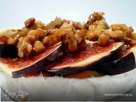 """""""Пьяный"""" камамбер с инжиром и карамелизированными грецкими орехами"""