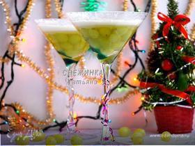 Новогодний десерт с шампанским «Под снежным покрывалом»