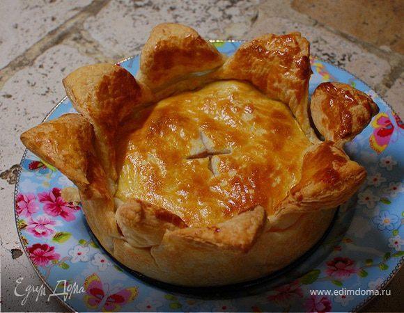Слоеный пирог с мясом и сладким перцем