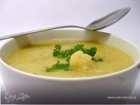 Зимний суп из цветной капусты с картофелем и морковью