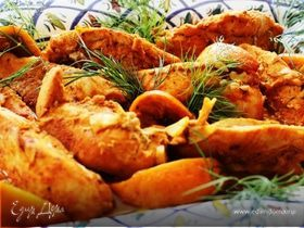 Сочная куриная грудка в апельсинах
