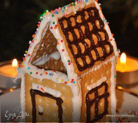 Рождественский домик из галетного печенья