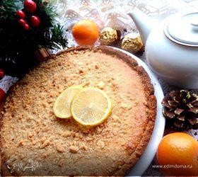 Песочный пирог с кремом на сгущенке