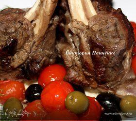 Пряная баранина с маслинами, оливками и томатами