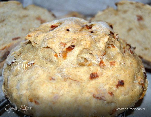 Хлеб из пшенично-ржаного теста с беконом и луком от Ришара Бертине