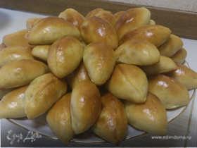Пирожки с капустой (тесто из хлебопечки)
