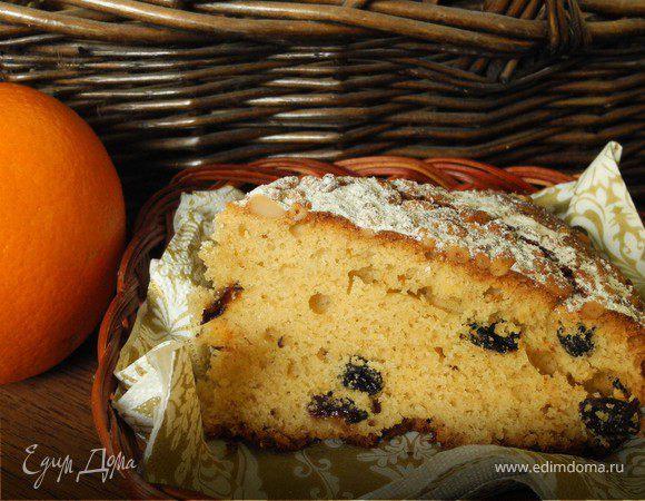 Пирог с оливковым маслом и апельсином