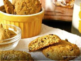 Печенье с бананом и арахисовым маслом (Peanut Butter Banana Chocolate Chip Cookies)