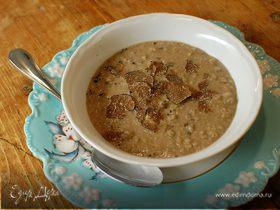 Суп-пюре из чечевицы и фасоли с трюфелем