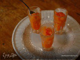 Гранита из манго, персиков и апельсинов
