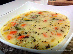 Легкий овощной супчик с мясным фаршем