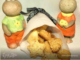 Сырное печенье с миндалем