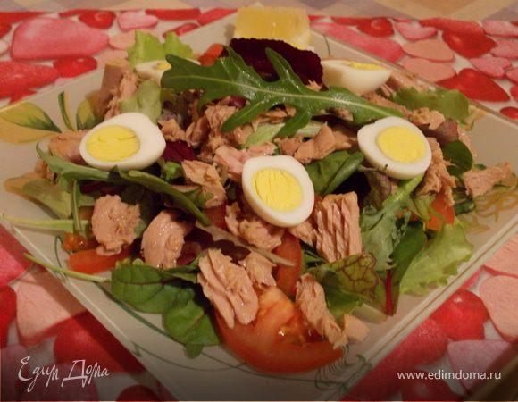 Рецепт простого салата из тунца