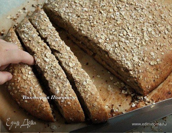 Ржаной хлеб на пиве с медом и овсяными хлопьями