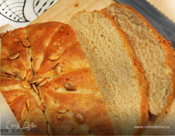 Цельнозерновой хлеб с чесноком и тыквенными семечками