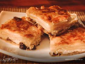 Лазанья сырная с грибами