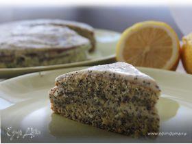 Маковый торт с творожно-лимонным кремом