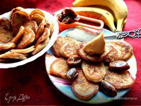 Оладушки с финиками и бананами (постные)