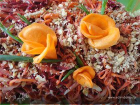Корейский салат с орехами