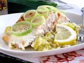 Филе лосося по-бретонски
