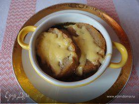 Луковый суп с крутонами