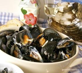 Мидии по-адмиральски (Moules au roquefort)