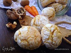 Морковно-ореховое печенье с трещинками