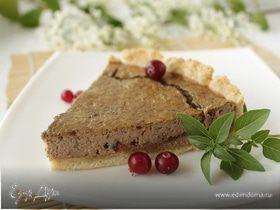 Пирог с печенью и вяленой клюквой