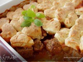 Мясо с грибами и сырными сконами
