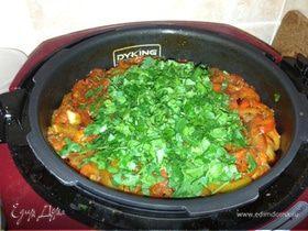 Нежное мясо с овощами