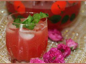Легкий освежающий лимонад из чайной розы и мяты