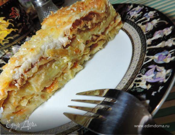 Многослойный пирог-лазанья на лаваше