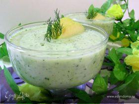 Холодный суп-пюре «Зеленый микс»