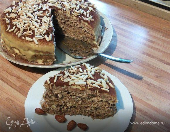 Миндальный слоеный торт