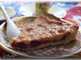 Тарт с малиной и заварным медовым кремом