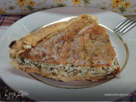 Летний пирог с зеленью