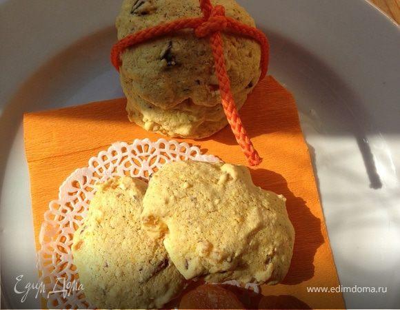 Быстрое бисквитное печенье на киселе