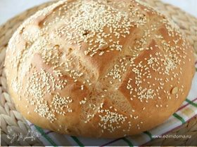 Хлеб из смешанной муки на йогурте