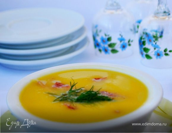 Суп-пюре овощной с ветчиной