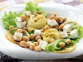 Салат с кабачком и нутом