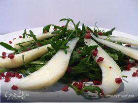 """Салат из руколы с карамелизированной грушей для Дарины """"С возвращением!"""""""