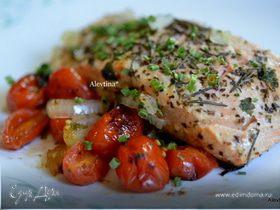 Рыба красная по-средиземноморски