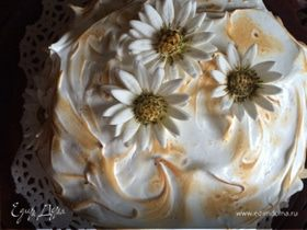 """Торт """"Аляска"""" с ромашково-медовым мороженым"""
