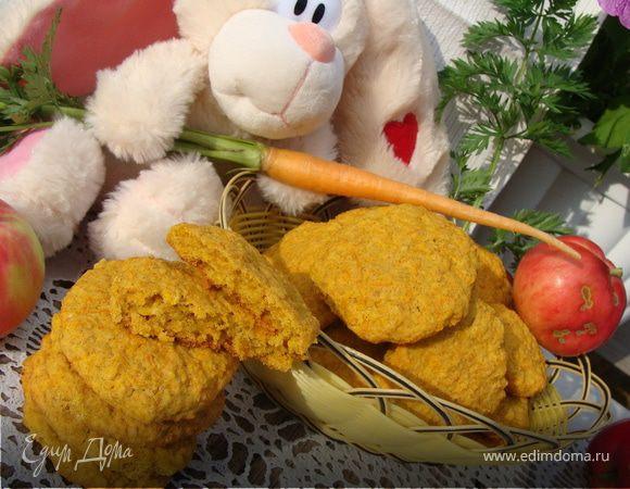 Кукурузное печенье с морковью и отрубями