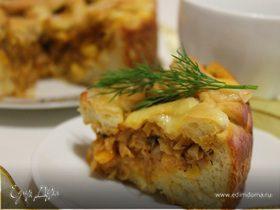 Пирог с капустой и кукурузой