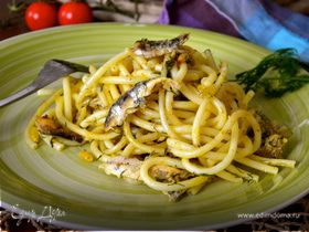Паста с сардинами (pasta con le sarde)