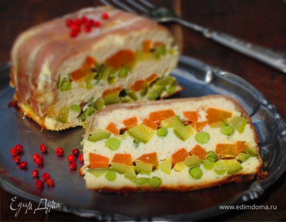 Диетический куриный террин с овощами