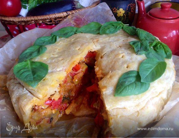Пирог с рататуем