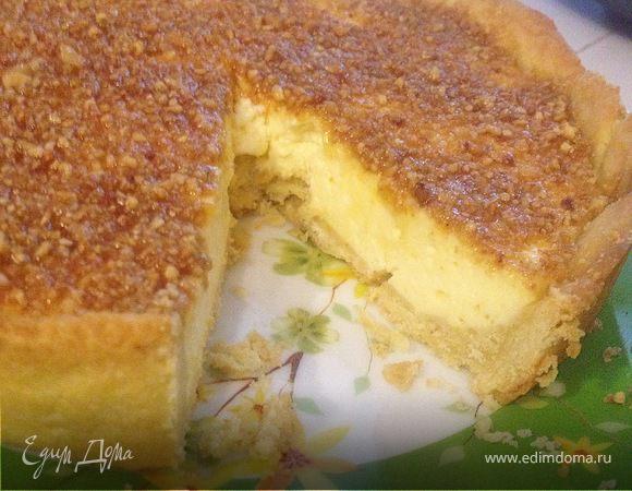 Миндальный тарт с лимонной начинкой