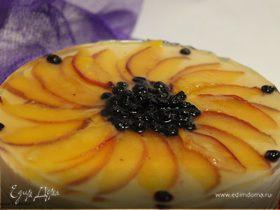 Торт чернично-персиковое суфле
